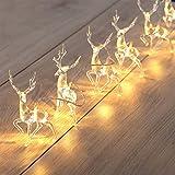 Yuciya Luces de Hadas de Renos, Luces de Cadena de Ciervos LED, Luces de Navidad LED Luces de Hadas, Decoración Interior de Renos con Pilas para Decoración de Interiores y Exteriores
