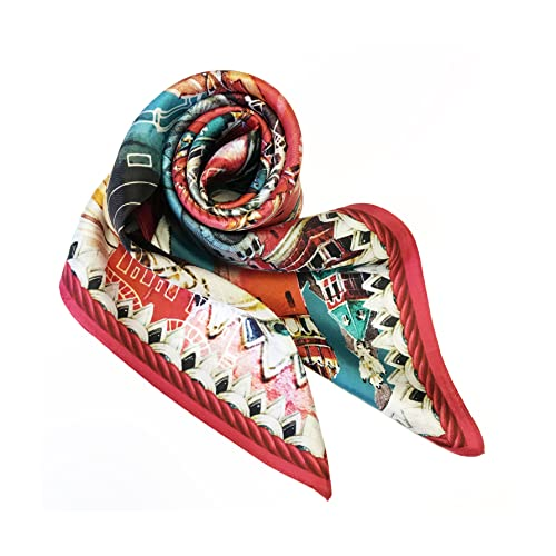 Pañuelo para la cabeza, pañuelo para la cabeza, bandana, diseño exclusivo, regalo para Nina Ruchkina, pañuelo cuadrado, 100% seda, 90 x 90 cm, Kreml Moscú Faberge