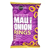 Cosmos Creations Premium Puffed Corn - Sweet Maui Onion Rings - Gluten Free Non-GMO 3.5 oz