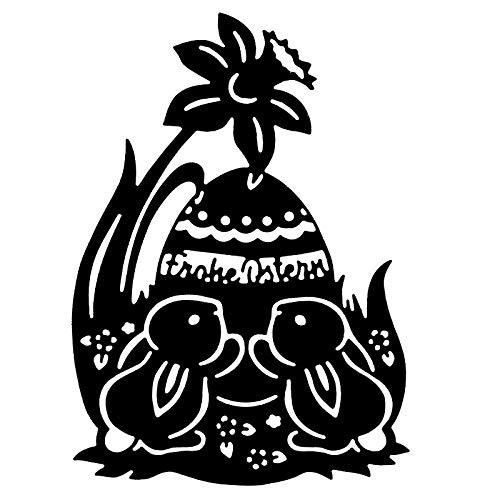 Stanzschablone   Osterhasen   Frohe Ostern   13,5 cm x 9,8 cm