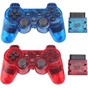 Classic Wireless Controller for PS2/Dual Shock 2/Pc (ClearRed and ClearBlue)