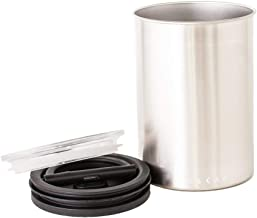 Airscape Coffee and Food Storage Canister - Patented Airtight Lid Preserves Food Freshness, Stainless Steel, Brushed Steel, 64 oz Can