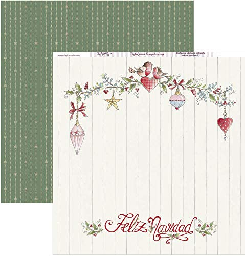 Dayka Trade Papel para scrap Feliz Navidad, Multicolor, Talla unica