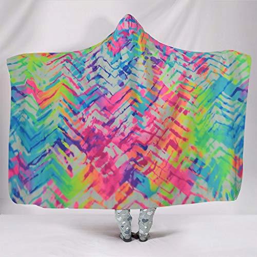 Couverture à capuche multifonction pour hommes et femmes - Blanc - 150 x 200 cm