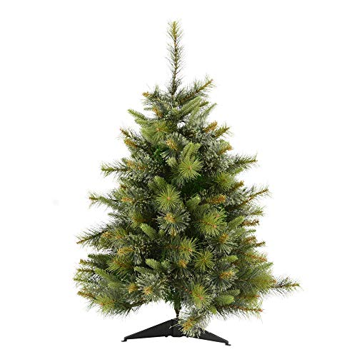 Vickerman Cashmere Christmas Tree, 4.5-Feet, Pine Green