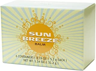 Sunbreeze Balm - 6 Small Containers (0.19 oz./5.2 g Each Container)
