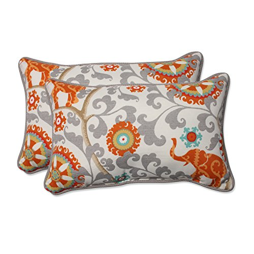Pillow Perfect 583457 Outdoor/Indoor Menagerie Cayenne Lumbar Pillows, 11.5