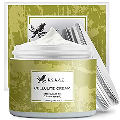 𝗢𝗥𝗚𝗔𝗡𝗜𝗖 Cellulite Cream - 3X Firmer Skin with TightTouch Technology - High-Bioavailability Caffeine + Collagen Boosting Vit E - 100% Vegan & Dermatologist Formulated from Eclat Skincare