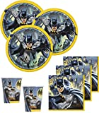 48 Teile Batman Superhero Party Deko Basis Set - für 16 Kinder
