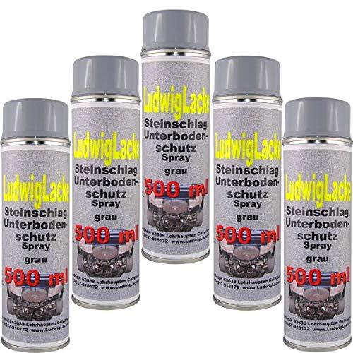 5 x 500 ml Spray Steinschlagschutz grau überlackierbar mit Autolack