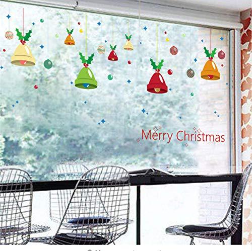 Frohe Weihnachten Dekoration Bunte Glocken wandaufkleber wohnzimmer Aufkleber shop fenster party neue jahr wohnkultur Poster