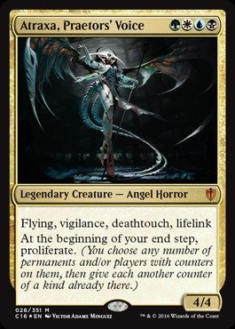 Magic The Gathering - Atraxa, Praetor39;s Voice (028/351) - Commander 2016 - Foil
