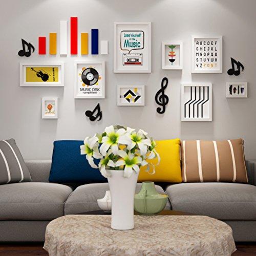 William 337 Musical Elements Photo Murale Combinaison Canapé TV Fond Grand Cadre Mural Mural Chambre Enfant