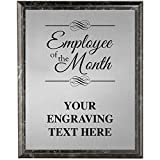 Corporate Plaques - 5 x 7 Employee of The Month Etched Recognition Trophy Plaque Award