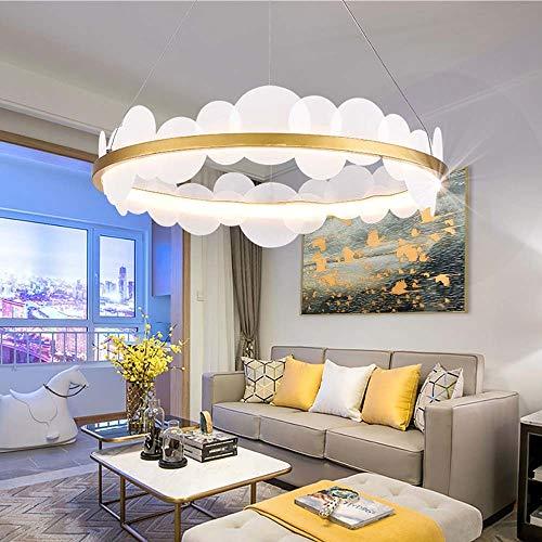 XZhstes Postmodern - Lámpara de araña redonda de lujo con lámpara de araña de hierro forjado para sala de estar, dormitorio, diámetro de 60 cm x 23 cm