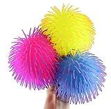 Curious Minds Busy Bags Set of 3 - 6' Puffer Balls - Sensory Fidget and Soft Hairy Stress Balls - OT Autism SPD (Random Colors)