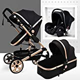 TXTC 3 In 1 Stroller Carriage Foldable Luxury Baby...