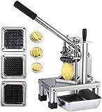 InLoveArts Taglia Patatine Fritte professionale Affettatrice di patateGrado commerciale Tagliaverdure con lame in acciaio inossidabile 304 di dimensioni 1/4'1/2' 3/8'e piastra alimenti