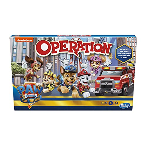Operation Game: Paw Patrol The Movie Edition Board Game for Kids Ages 6 and Up, Nickelodeon Paw Patrol Game for 1 or More Players