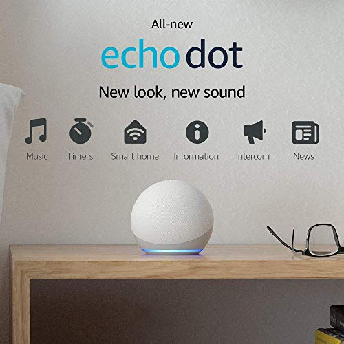 All-new Echo Dot (4th generation) | Smart speaker with Alexa | Glacier White