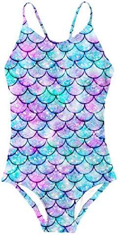 Big Girls Mermaid Swimsuit Sun Protection Competition Sport Bikini Swimwear Hawaiian Holiday product image
