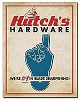 アメリカ雑貨 ブリキ看板 Hutch's Hardware 店舗装飾 壁面ディスプレー サインプレート インテリア ガレージ ポスター ブリキ 看板 おしゃれ