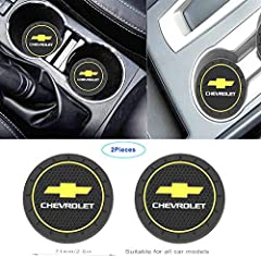 🚗 -[Materials and Dimensions] These coasters for Chevrolet are made of high quality silicone and are easy to clean. 2.8 inches in diameter, 0.2 inches sthick. (Before ordering, please measure the size of your car cup slot, thank you!) 🚗 -[Protect you...