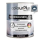 colourPlus® Badewannenlack (750ml, Cremeweiß) 1K - glänzender Badewannenlack weiß - Lack für...