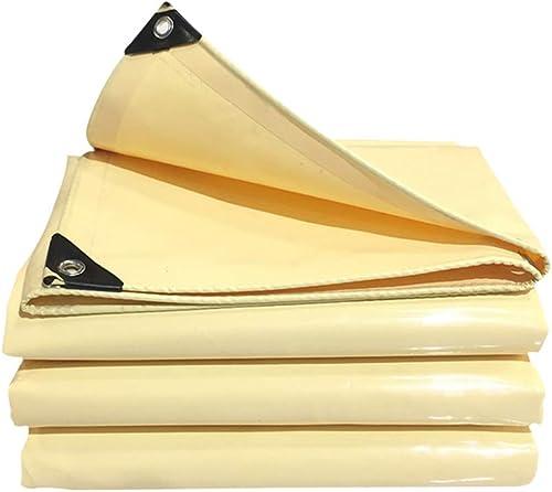 JUEJIDP épaissir la bache en Plein air de Prougeection Contre la Pluie crème Solaire Beige bache de Prougeection Push-Pull versé Couteau en PVC racler Le Tissu Tente