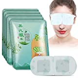 Self Heating Steam Eye Mask, 5pcs Hydrating Self Heated Eye Masks Provide Moisture Relieve Dry Eyes Reduce Puffy Eyes and Dark Circles, for Sleeping Travel or at Work