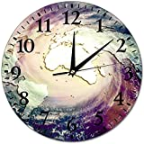 L.Fenn Reloj De Pared Redondo El Concepto De Cambio Climático Catastrófico Enorme Huracán En El Fondo Relojes De Pared Morden Reloj Redondo Silencioso