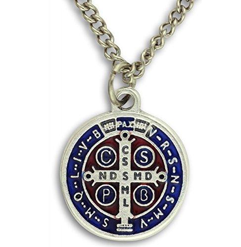 Saint Benedict Medal Pendant. St Benedict Pendant. St Benedict Medal. Saint Benedict Cross. St Benedict Crucifix Medal. by Medal