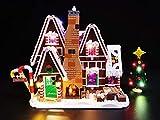 Kit de luces LED Hima para Lego 10267, el kit de luces LED de ladrillo Compatible con el Kit de construcción de casas de pan de jengibre, no incluye el modelo Lego