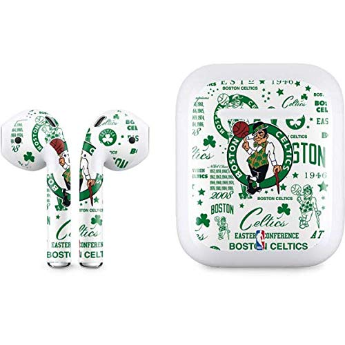 Skinit Decal Audio Skin Compatible with Apple AirPods with Lightning Charging Case - Officially Licensed NBA Boston Celtics Historic Blast Design