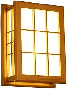 Wall lamp TOYM UK Lámpara de Pared de Madera Maciza Japonesa del Pasillo del Sitio (Color : Barrier Paper)