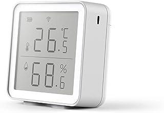 RISF WiFi Monitor de temperatura de humedad, termómetro higrómetro interior con alerta de aplicación, sensor de temperatur...
