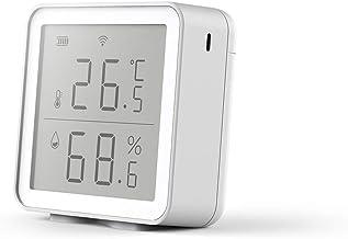 Tuya Smart WiFi Sensor de temperatura y humedad, Termómetro digital inalámbrico Monitor de higrómetro Compatible con Alexa y Google Home