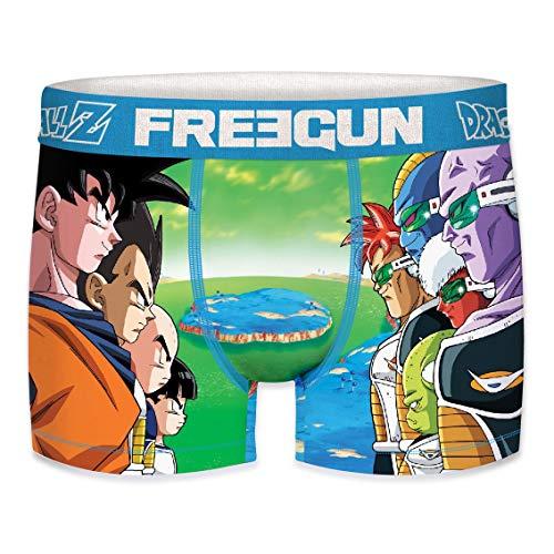 Freegun - Boxer Homme Dragon Ball-Z en Microfibre - Assortiment des modèles Selon arrivages (VER Act3, L)