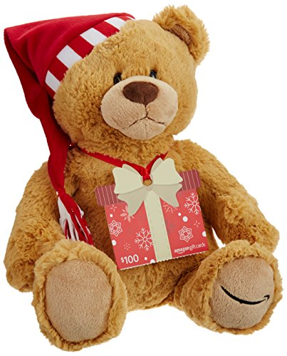 Amazon.com Gift Card with a Holiday Teddy Bear - Limited Edition