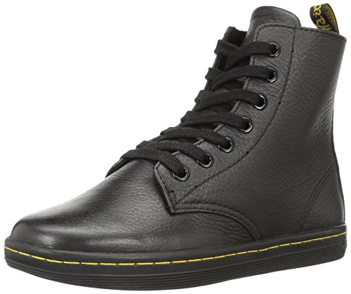 Dr. Martens womens Leyton Ankle Bootie, Black Game on, 6 US