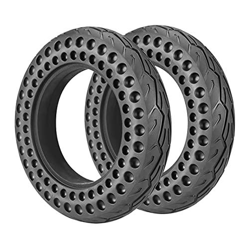 DPGPLP Neumáticos para Scooter eléctrico (Paquete de 2), neumáticos sólidos 10X2 a Prueba de explosiones de 10 Pulgadas, absorción de Impactos en Forma de Panal, duraderos Resistentes a los pinchazos