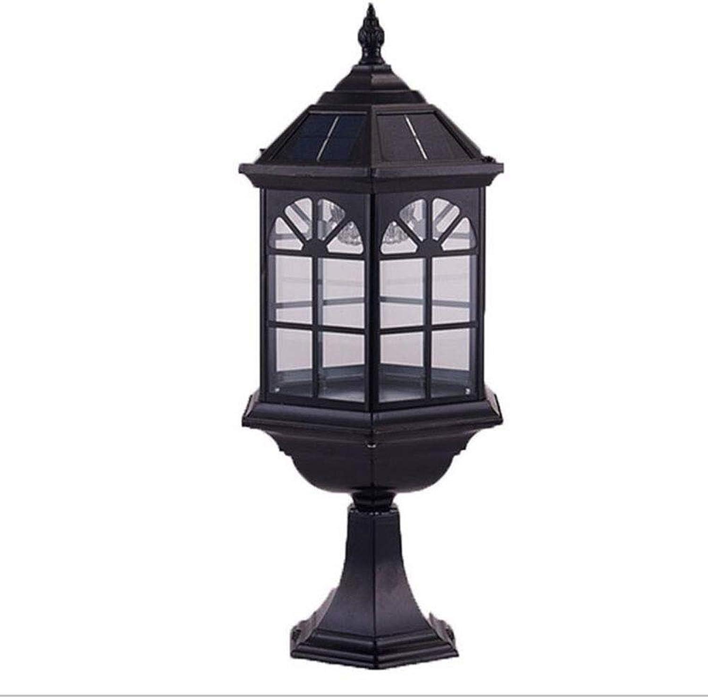 MICHEN Solar Angetriebene LEDLichtlampe Im Freien,Black