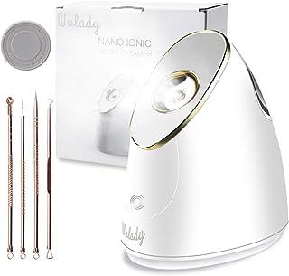 Vaporizador Facial Profesional Sauna Facial Vaporizador Wolady 100ML Mayor Capacidad Menor Tamaño Spa Facial Vapor Térmico Nano Spray Ionic Humidifier Piel Hidratante Limpieza Profunda Facial Steamer