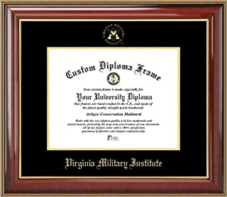 Laminated Visuals Virginia Military Institute Keydets - Embossed Seal - Mahogany Gold Trim - Diploma Frame