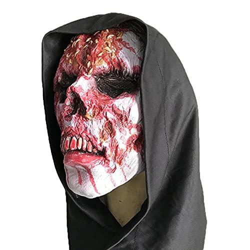Disfraz De Halloween Máscaras De Terror Máscaras Faciales Divertidas Máscaras Anónimas De Látex Máscara De Calavera Sangrienta De Halloween Accesorios De Terror De Fiesta 1
