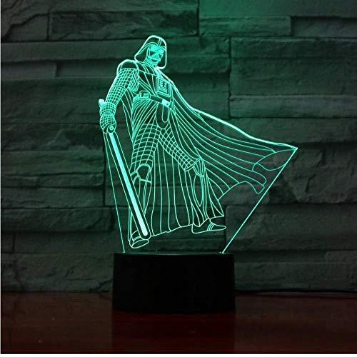 NEW Darth Vader Lichter 3D LED Lampe 7 bunte Acryl Lampe als Home Decorations Lichter Kinder Student Geschenk