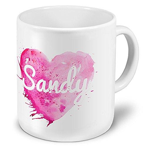 XXL Riesen-Tasse mit Namen Sandy - Motiv Colorpaint - Namenstasse, Kaffeebecher, Becher, Mug
