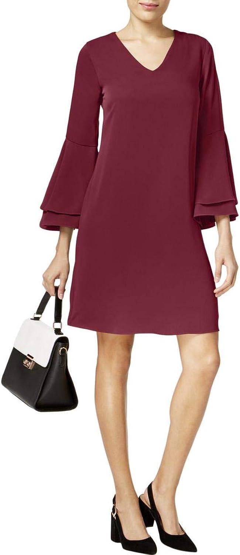 Alfani Womens Bell Sleeve Shift Dress