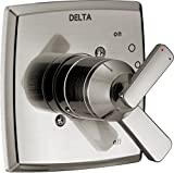 Delta Faucet Ashlyn 17 Series Dual-Function Shower Handle Valve Trim Kit, Stainless T17064-SS (Valve Not Included)