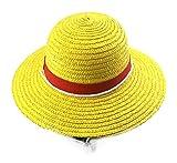 WANHONGYUE Anime One Piece Monkey D. Luffy Ruffy Cosplay Sombrero de Paja Sombreros de Sol Sombrero de Verano